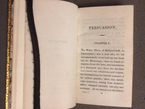 An Early Edition of Austen's Persuasion