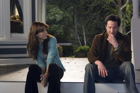 "Kate and Alex sit on the porch, talk to each other about the meaning of the novel ""Persuasion""."