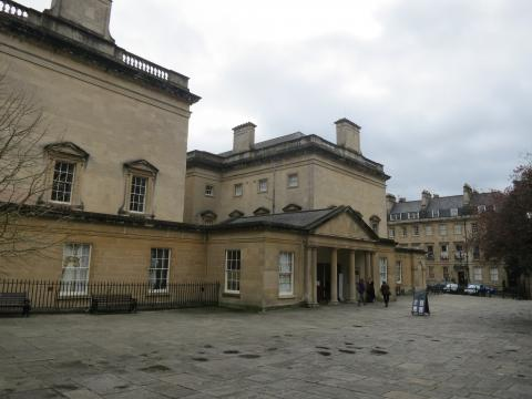 Outside of the Assembly Rooms in Bath.