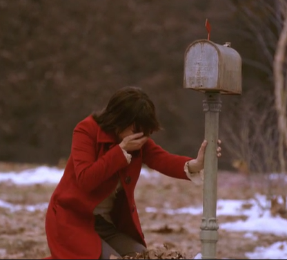 Kate Falls to Her Knees By Mailbox