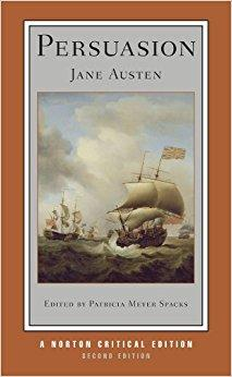 Cover to Persuasion by Jane Austen-Norton Ciritical Edition Second Edition