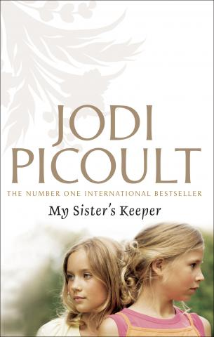 """two blonde girls beneath JODI PICOULT"""